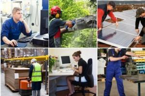 Typische Arbeithaltungen in verschiedenen Branchen